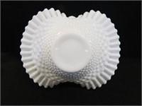 Milk Glass Hobnail Basket