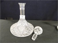 Decanters w/Stoppers; Crystal