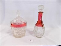 Decanter; Glass Container w/Lid