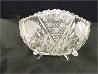 Crystal Bowl w/Sawtooth Edge