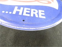Pepsi Cola Round Metal Sign