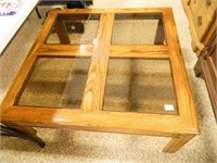 Square Coffee Table w/Glass Inserts