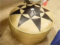Round Ottoman; w/Star Design