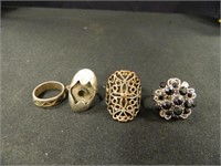 Rings; Assorted Styles & Sizes (17)