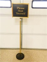 Sign Holder w/Interchangeable Signs