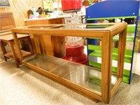 Occasional Table; Wood & Glass