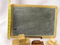 Chalkboard; 3-Blocks; 2 Wood Cars
