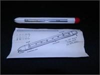 """Metal Ruler-72""""; Mile-O-Graph"""