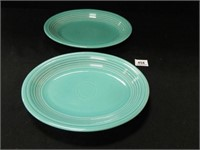 Turquoise Fiesta Platters (2)