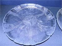 Serving Bowl; (4) Plates w/Floral