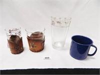 Drinking Glasses; Enamelware Cup
