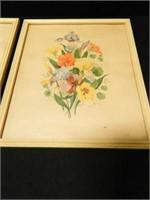 "Floral Prints; 1947; 10¾"" x 12½"""