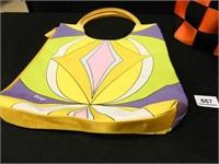 Biolage Bag; Orange/Black Bag