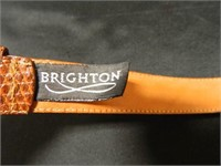 "Brighton Belts; Brown-34""; Black-M"