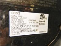 Cooks Coffee Pot; Model MD-255T