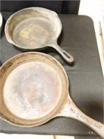 Metal Pans; 2-Cast Iron; Assorted
