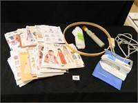 Norelco Travel Iron; Sewing Patterns