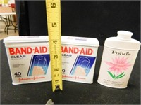 Metal Cans; Vintage First Aid Items