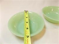"""Jadeite Bowls, Fire-King (3), 5"""""""