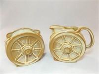 Frankoma Wagon Wheel Cream & Sugar