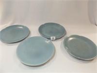 Frankoma Blue Plates (4)
