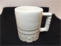 Frankoma White Patterned Mug