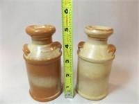 Frankoma Brown/Beige Salt & Pepper