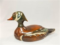 Wood Duck, Carved, Painted, Signed