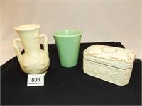 Pottery, Porcelain Pieces (3)