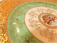 "Victoria 8½"" Plates (6), 24K Gold"