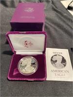Four – American eagle 1 ounce silver coins