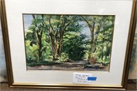 D - VINTAGE SIGNED WATER COLOR PAINTING 32.5 X 25