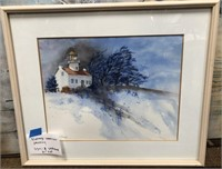 D - VINTAGE WATERCOLOR PAINTING SIGNED A LAFRANCE