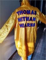 THOMAS HITMAN HEARNS SIGNED ROBE & TRUNKS W/COA