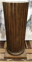 "D - ANTIQUE WOOD PEDESTAL 36"" X 16"""