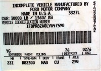 1990 Ford L8000 TK (view 3 - VIN Plate)