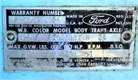1965 Ford F250 PK (view 3 - VIN Plate)