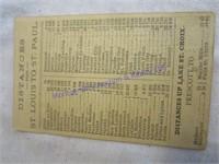 1874 TRAIN TICKET