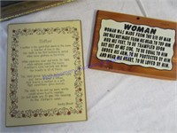 MOTHER & DAD PLAQUES