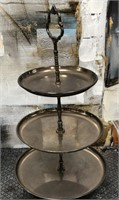 366 - VINTAGE 3 TIER SERVING TRAY