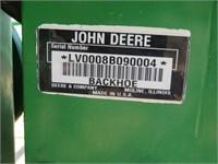 John Deere 8B Backhoe Attachment