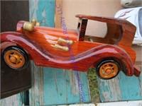 WOODEN DISPLAY CAR