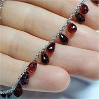 $2310 10K  Garnet(26ct) Necklace