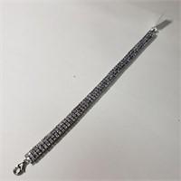 $2896 Silver Tanzanite(10.9ct) Bracelet