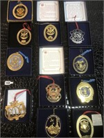 Lot of United States Park Police Ornaments -