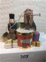 The Danbury mint 2008 annual yorkie ornament