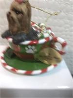The Danbury mint 2015 annual yorkie ornament