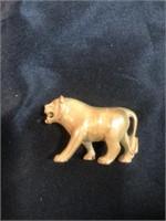 Porcelain or Ceramic Teddy Bear, Rhinoceros,