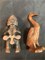 Boar, Pelican, Man, Turtle, and Elephant Carved