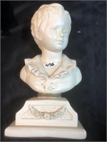 ABCO hand painted Bust of Young Boy. Alexander
